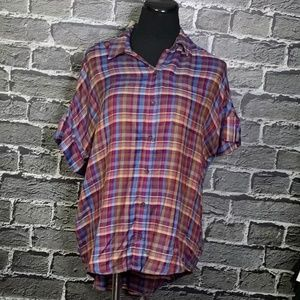 NWT LUCKY BRAND Slub Summer Soft Flannel Shirt